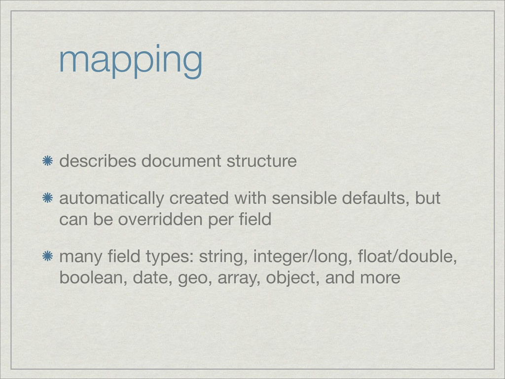 mapping describes document structure automatica...
