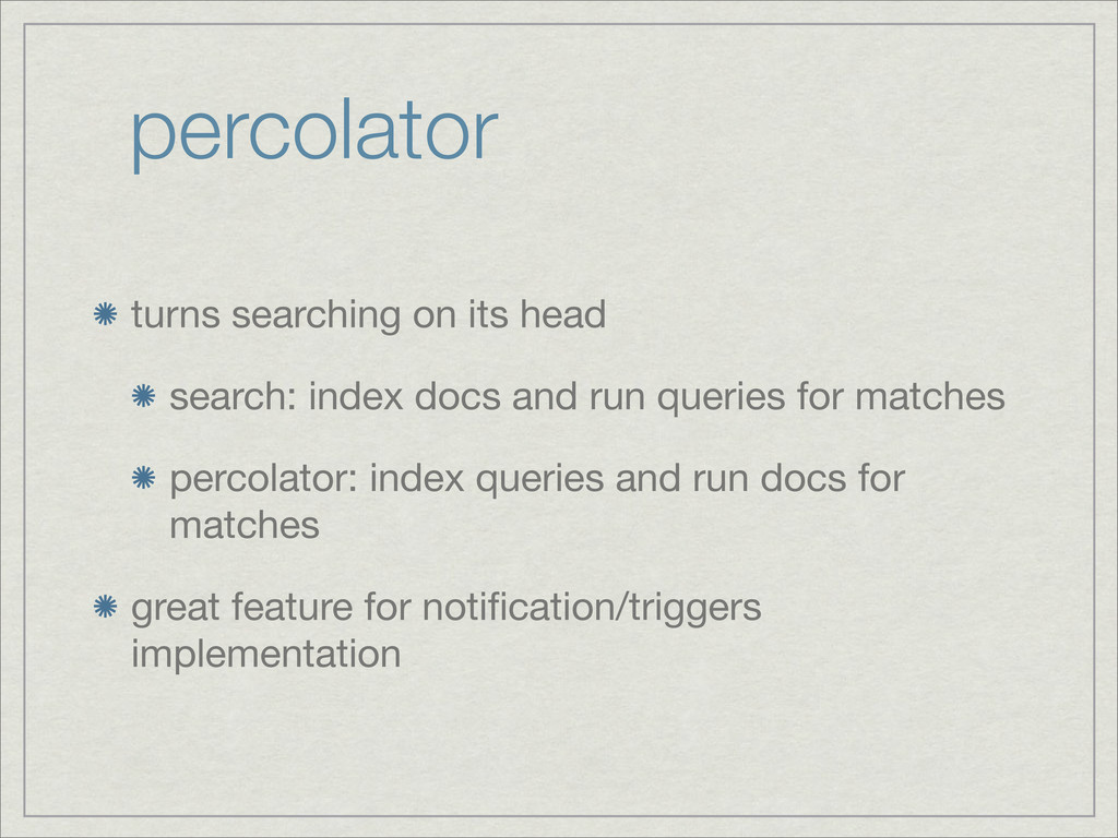 percolator turns searching on its head search: ...