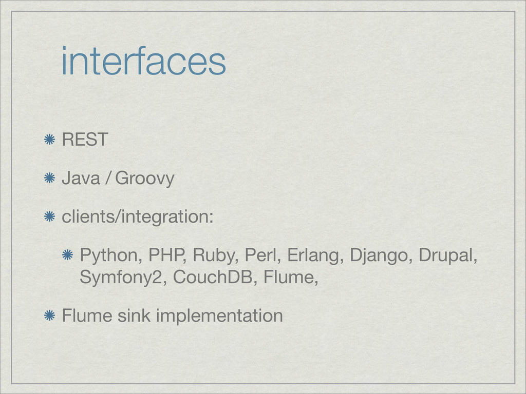 interfaces REST Java / Groovy clients/integrati...