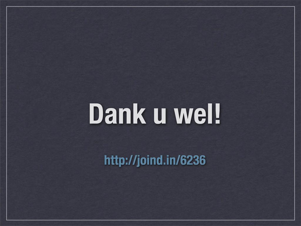 Dank u wel! http://joind.in/6236