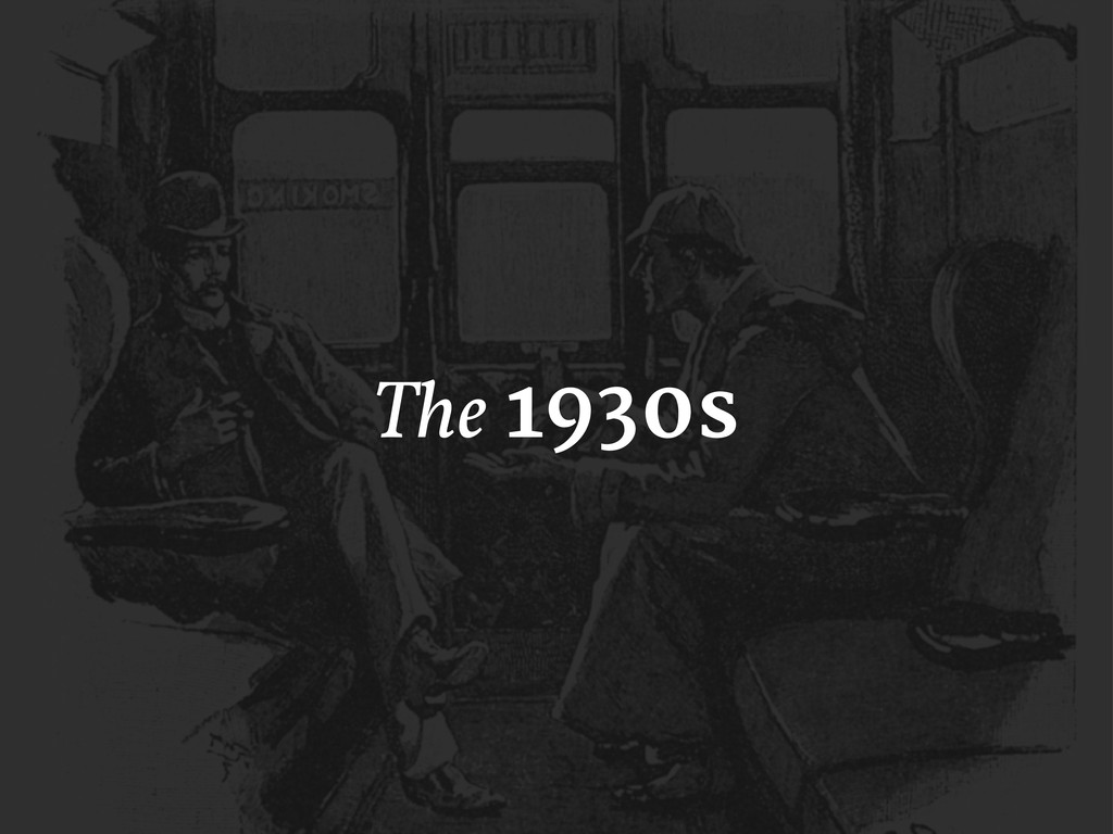 The 1930s
