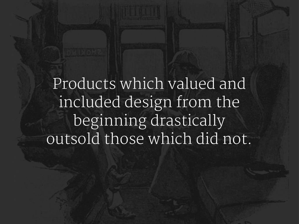 Products which valued and included design from ...