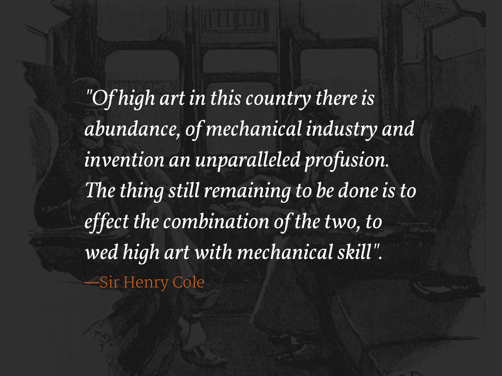"""Of high art in this country there is abundance..."