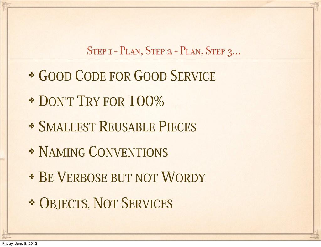 Step 1 - Plan, Step 2 - Plan, Step 3... ✤(00%...