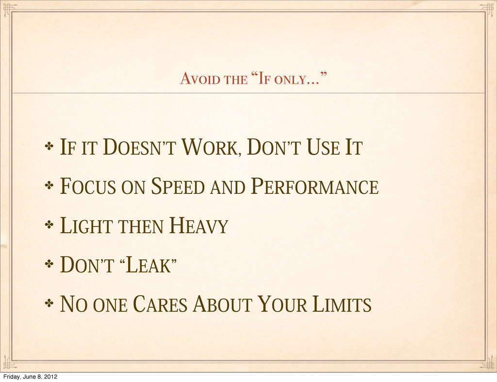 """Avoid the """"If only..."""" ✤*'*5%0&4/`5803,%0..."""