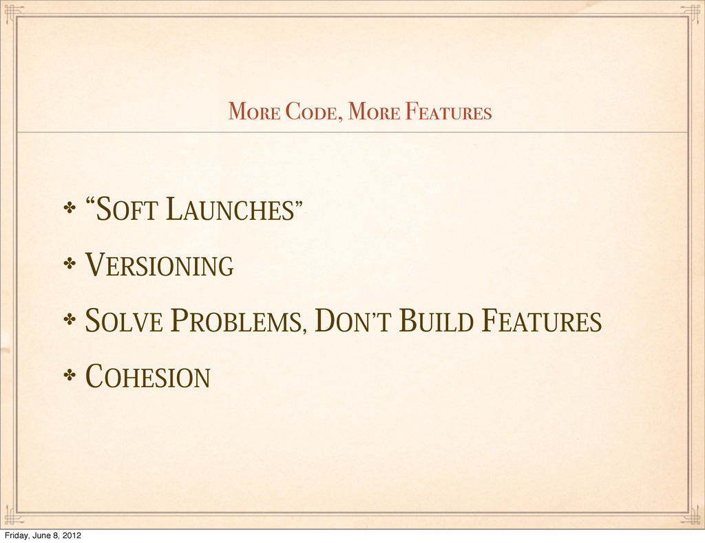 """More Code, More Features ✤l40'5-""""6/$)&4z ✤7&..."""