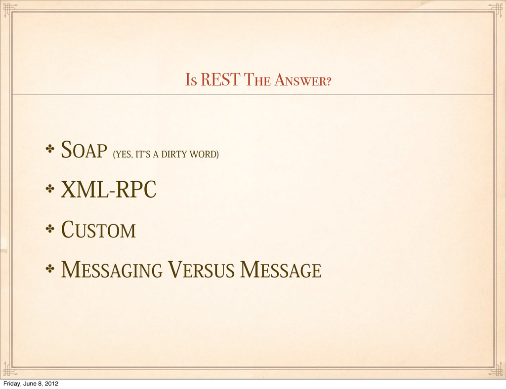 """Is REST The Answer? ✤40""""1 :&4*5`4""""%*35:8..."""