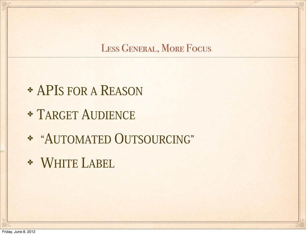 """Less General, More Focus ✤""""1*4'03""""3&""""40/ ✤..."""