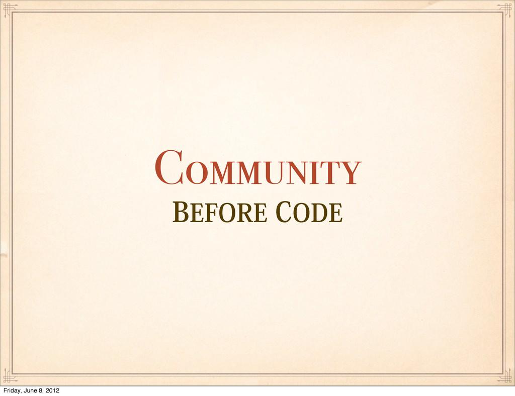 #&'03&$0%& Community Friday, June 8, 2012