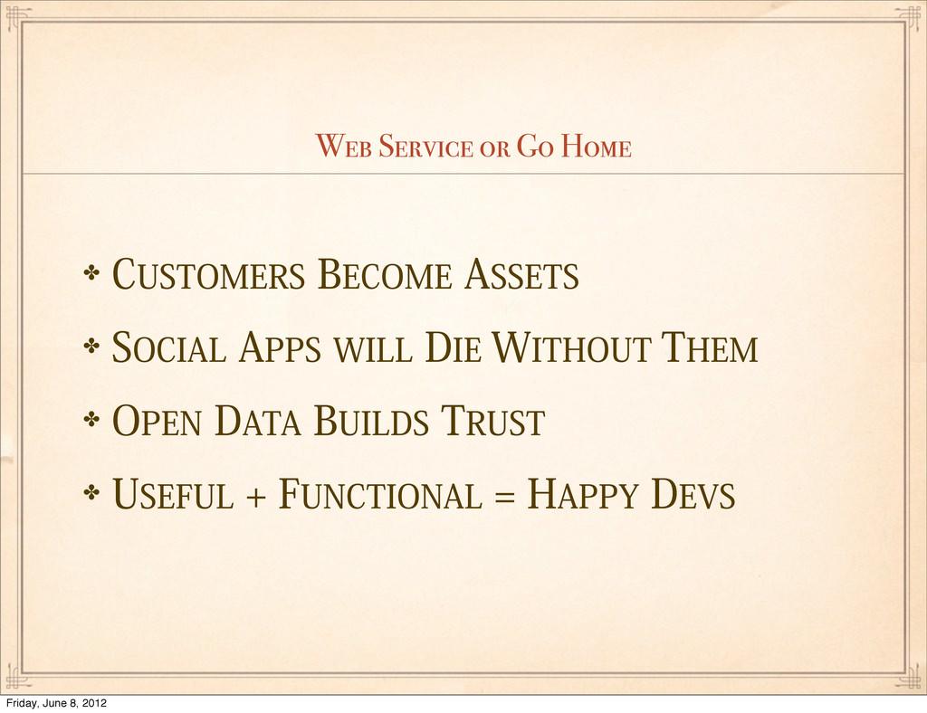 "Web Service or Go Home ✤$6450.&34#&$0.&""44&5..."