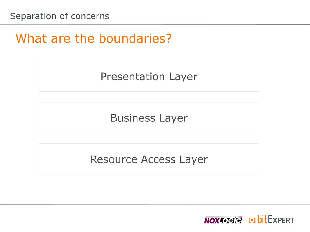 Separation of concerns What are the boundaries?...