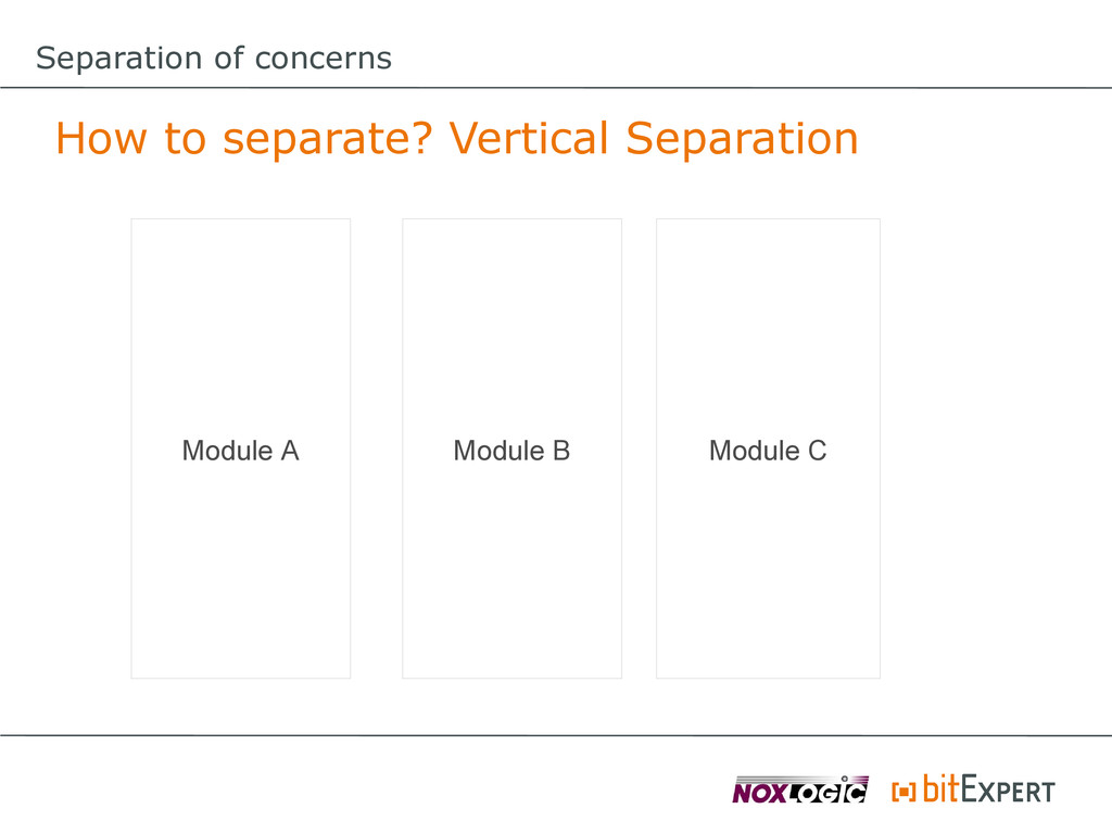 Separation of concerns How to separate? Vertica...