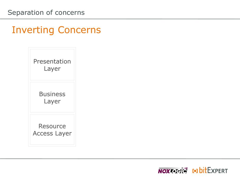 Separation of concerns Inverting Concerns Prese...