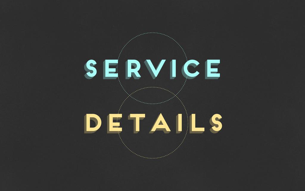 service service details details