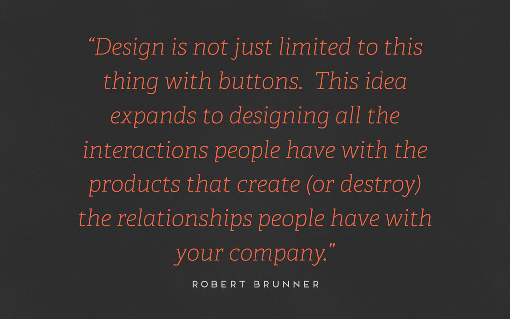 """Design is not just limited to this thing with ..."