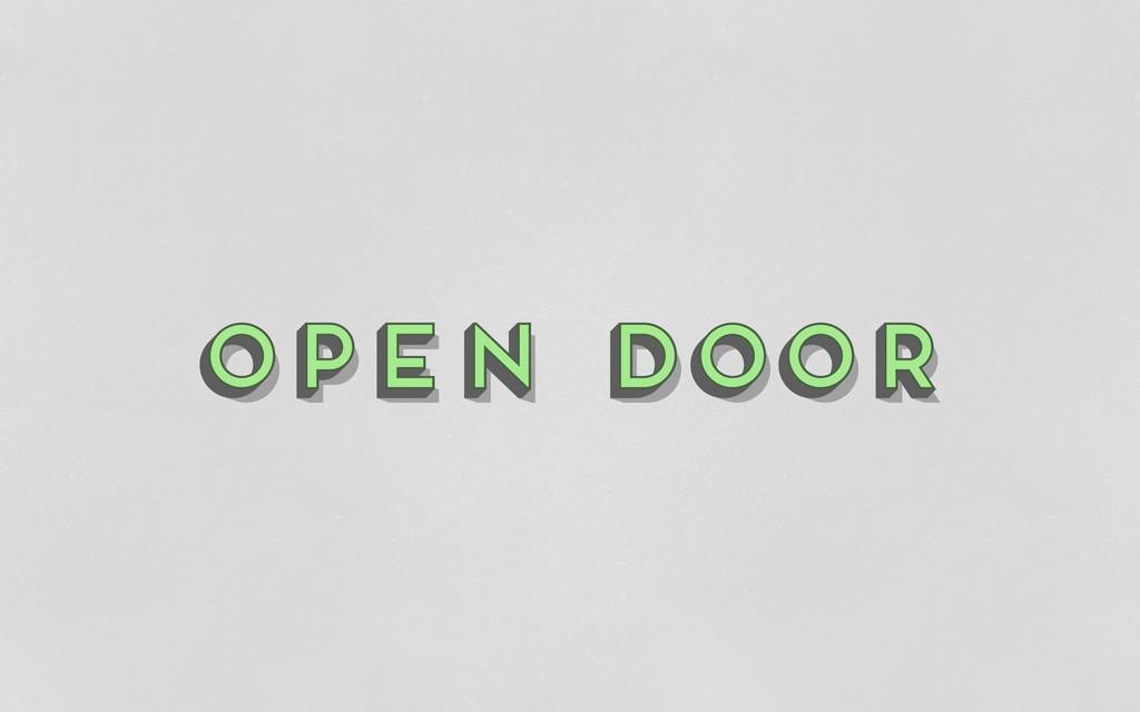 open door open door open door open door