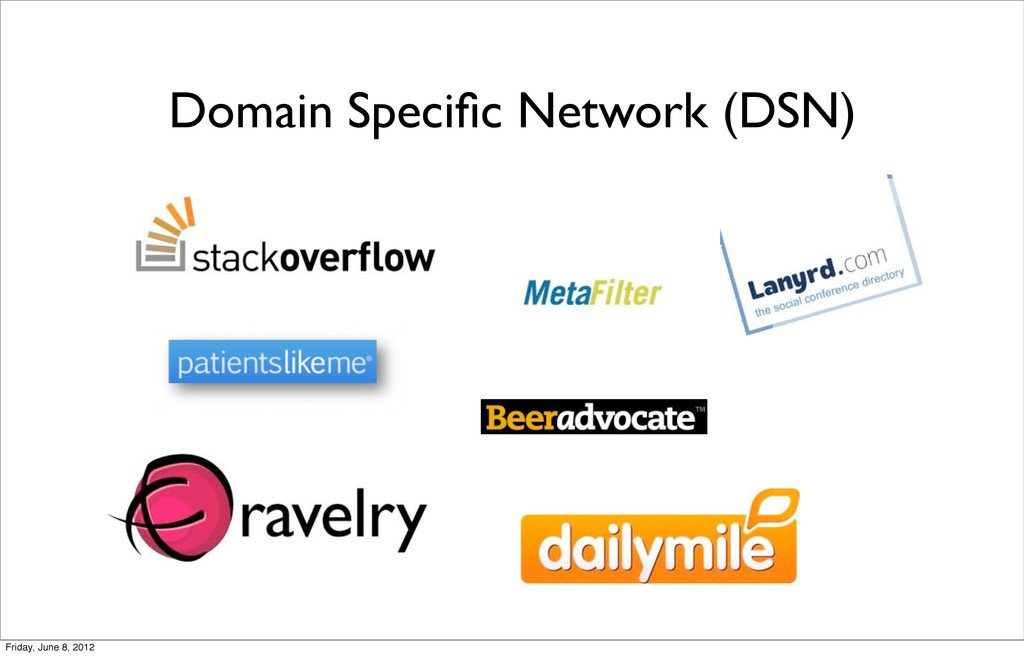 Domain Specific Network (DSN) Friday, June 8, 20...