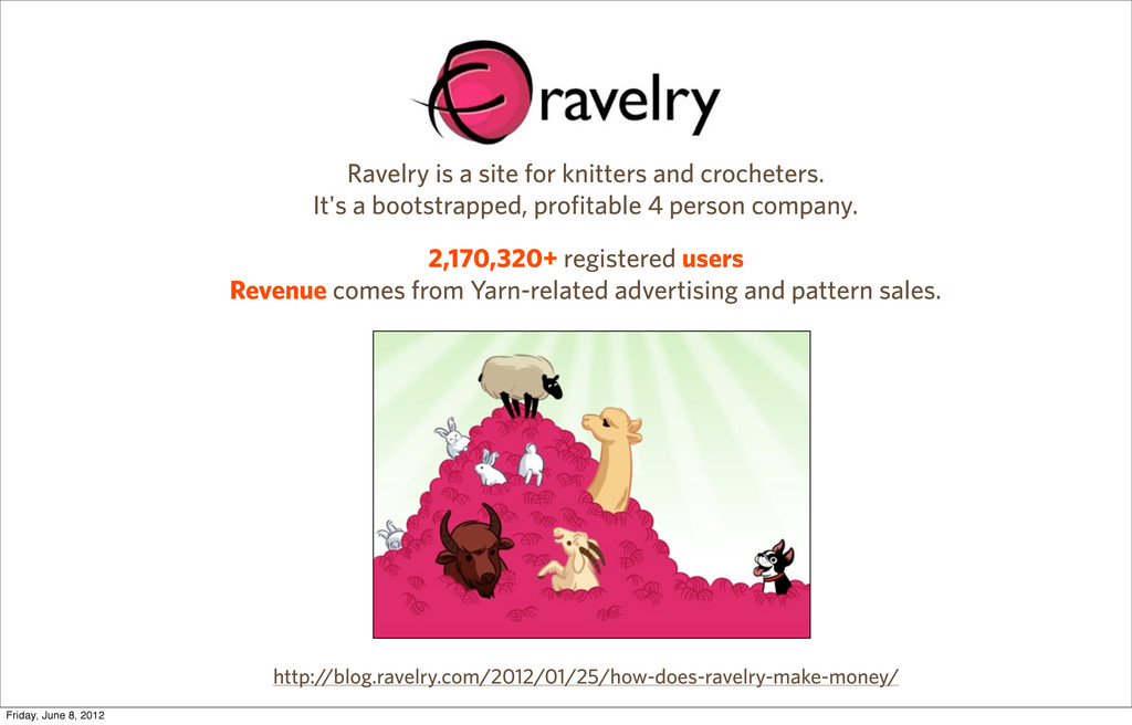Ravelry is a site for knitters and crocheters. ...