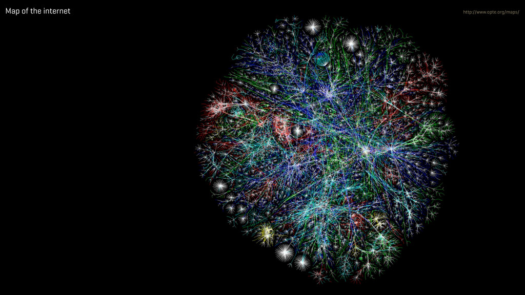 Map of the internet http://www.opte.org/maps/