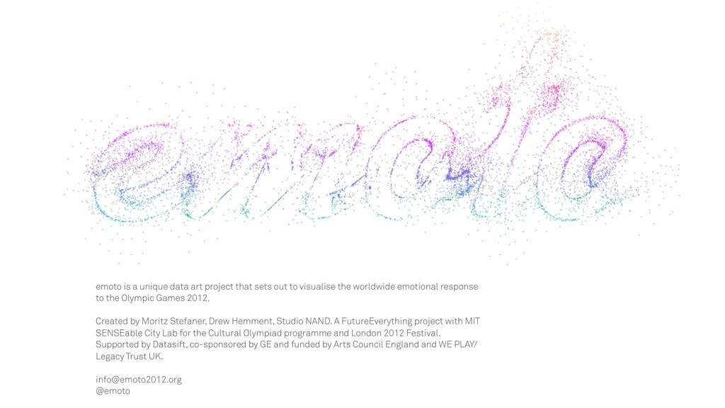 emoto is a unique data art project that sets ou...