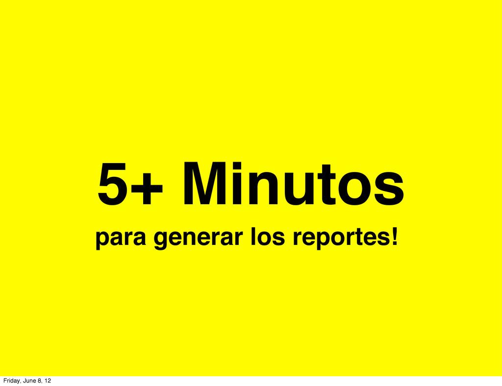 5+ Minutos para generar los reportes! Friday, J...