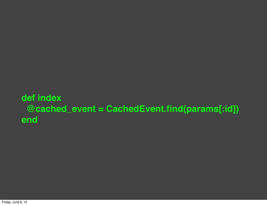def index @cached_event = CachedEvent.find(param...