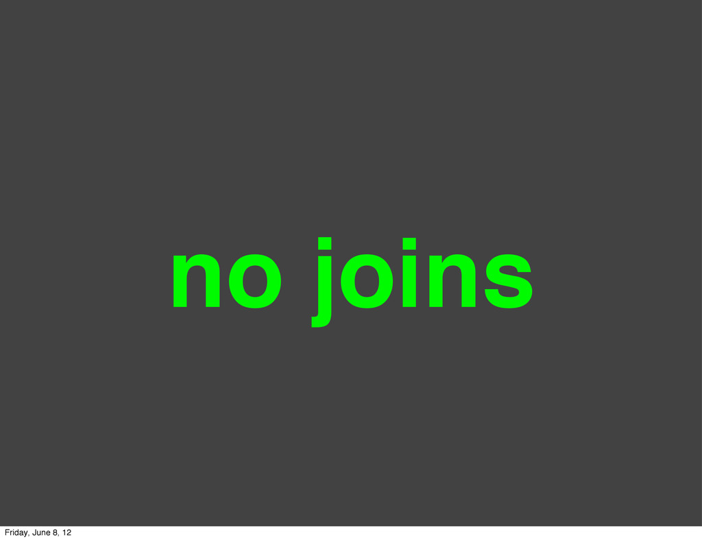 no joins Friday, June 8, 12