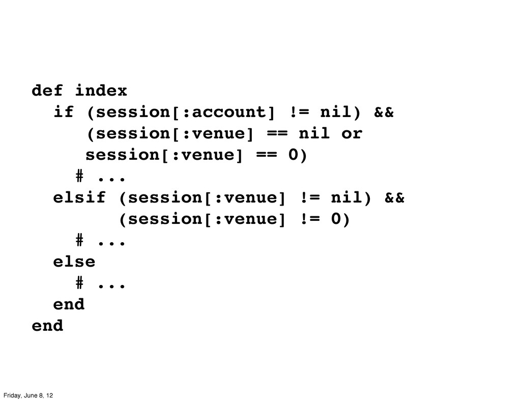 def index if (session[:account] != nil) && (ses...