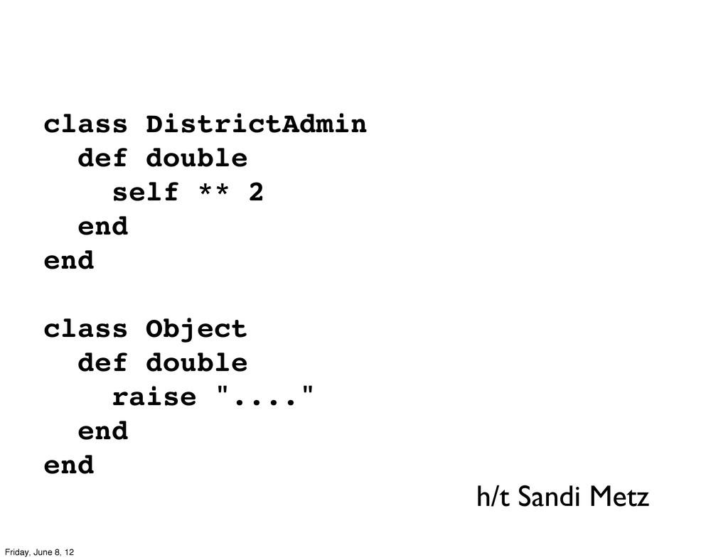 class DistrictAdmin def double self ** 2 end en...