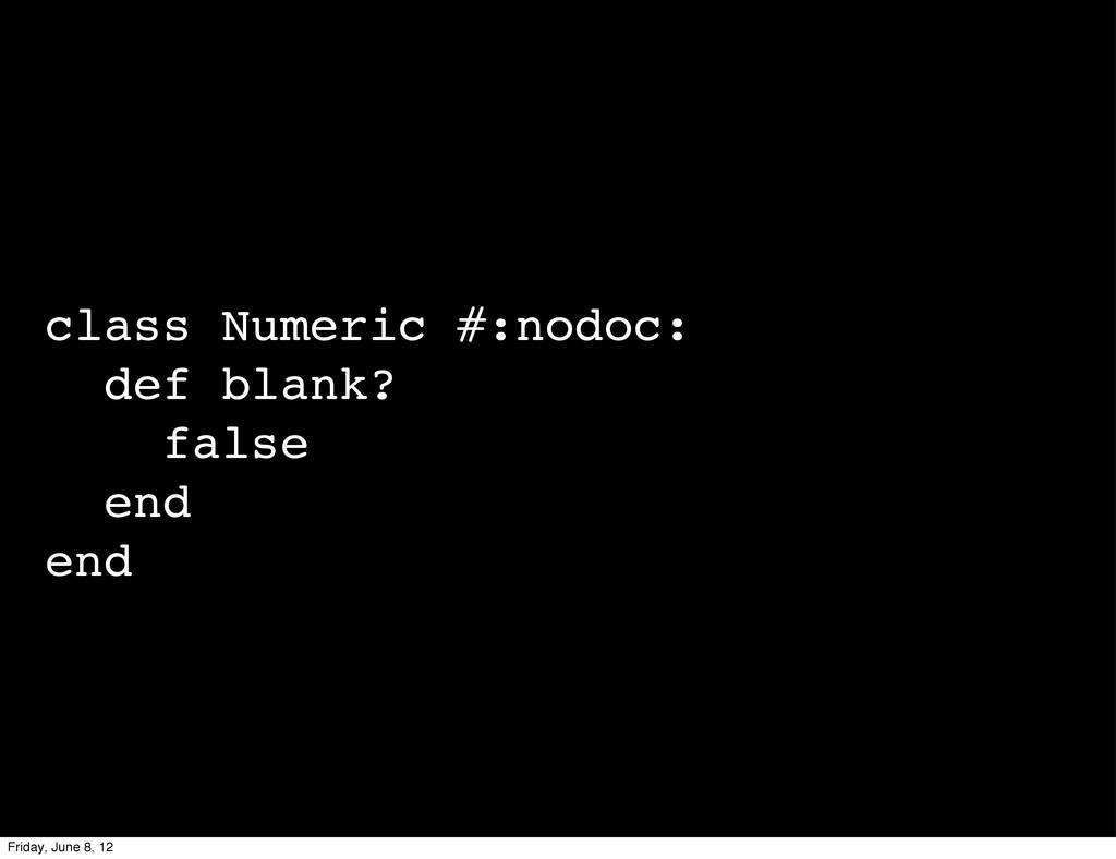 class Numeric #:nodoc: def blank? false end end...