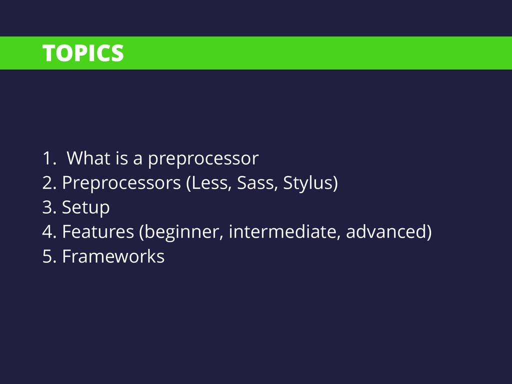 TOPICS 1. What is a preprocessor 2. Preprocesso...