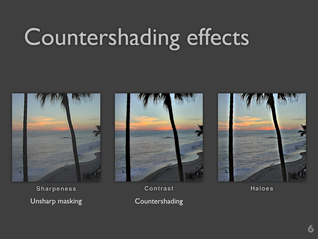 Countershading effects 6 Unsharp masking Counte...