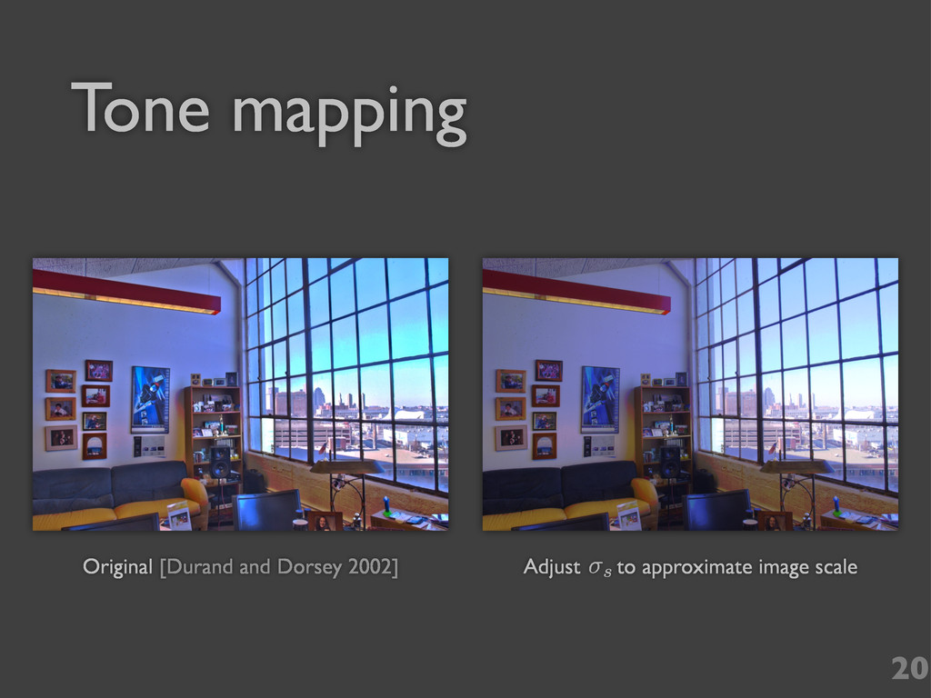 20 Tone mapping Original [Durand and Dorsey 200...