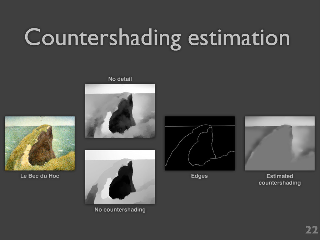 22 Countershading estimation