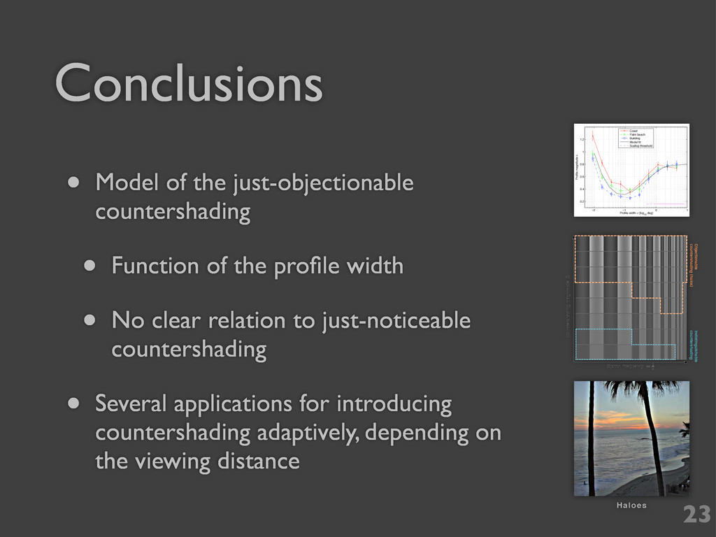 Conclusions 23 • Model of the just-objectionabl...