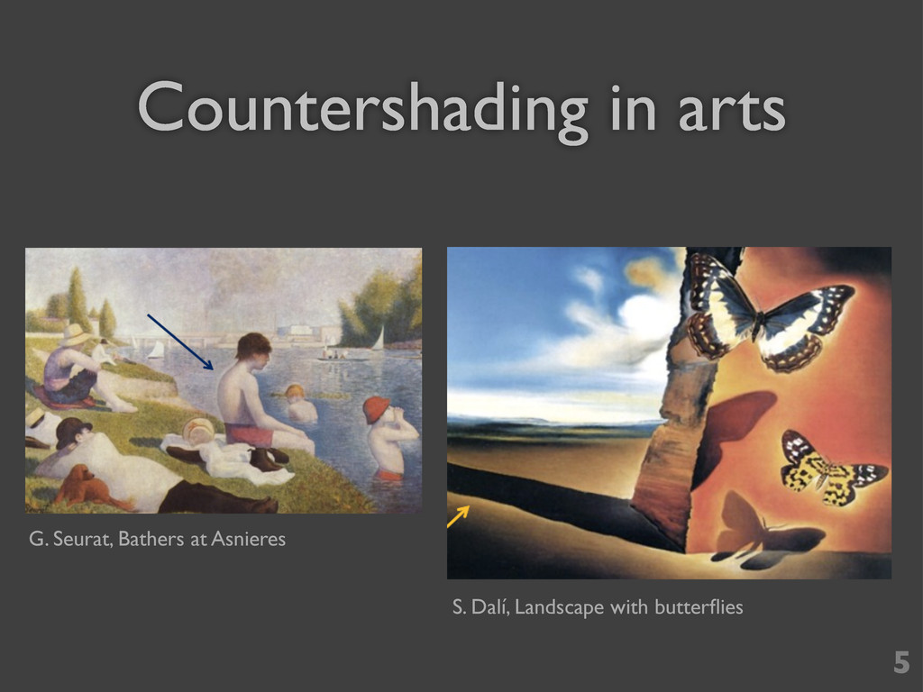 Countershading in arts 5 G. Seurat, Bathers at ...