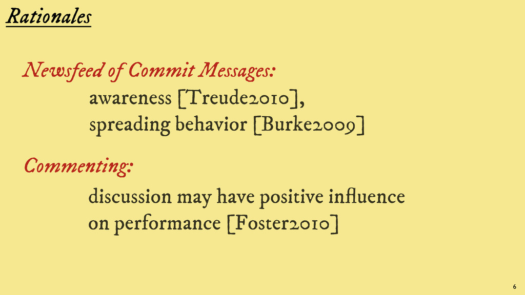 Rationales Newsfeed of Commit Messages: awarene...