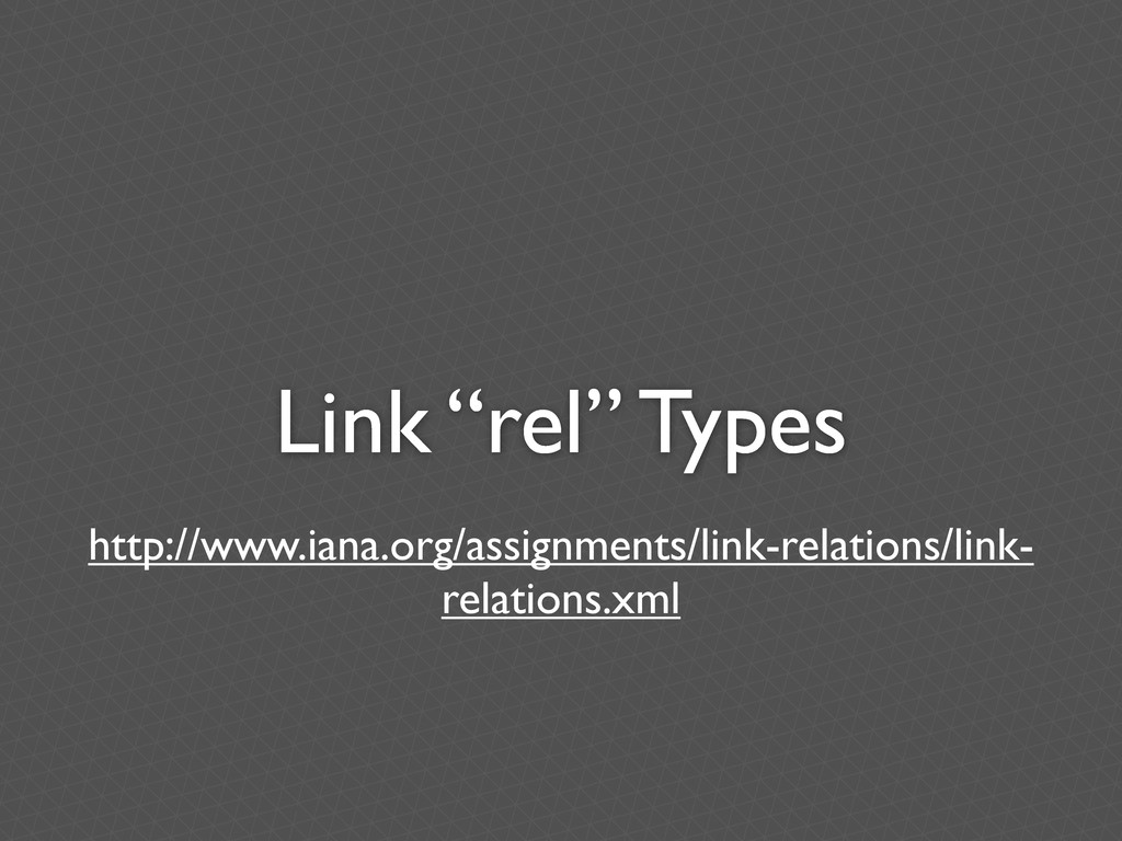 """Link """"rel"""" Types http://www.iana.org/assignment..."""