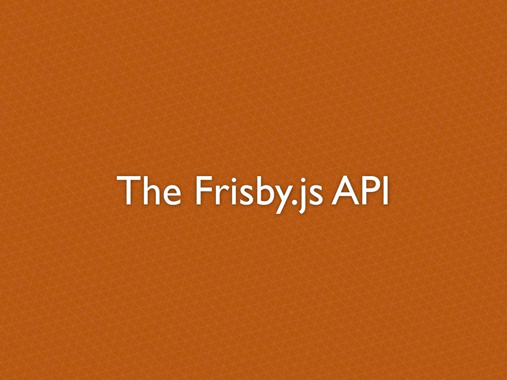 The Frisby.js API