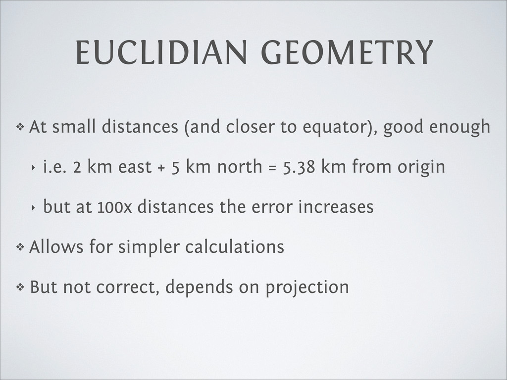 ❖ At small distances (and closer to equator), g...