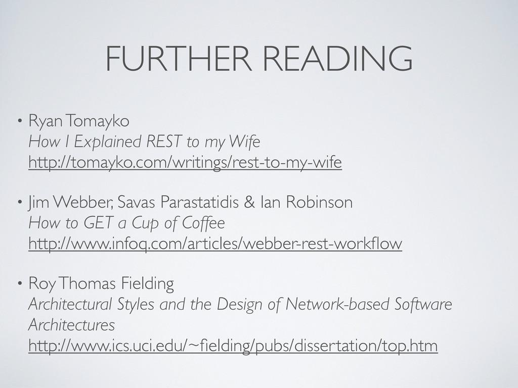 FURTHER READING • Ryan Tomayko How I Explained ...