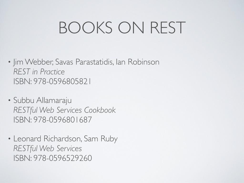 BOOKS ON REST • Jim Webber, Savas Parastatidis,...