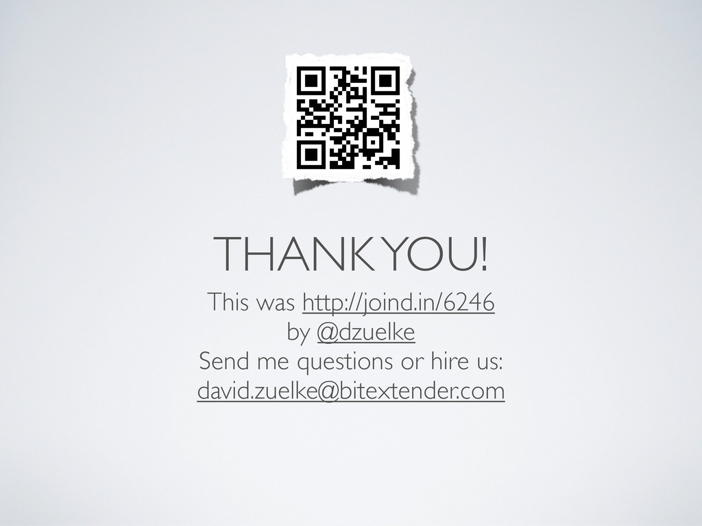 THANK YOU! This was http://joind.in/6246 by @dz...