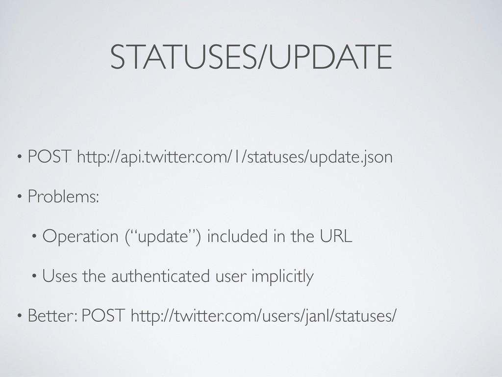 • POST http://api.twitter.com/1/statuses/update...