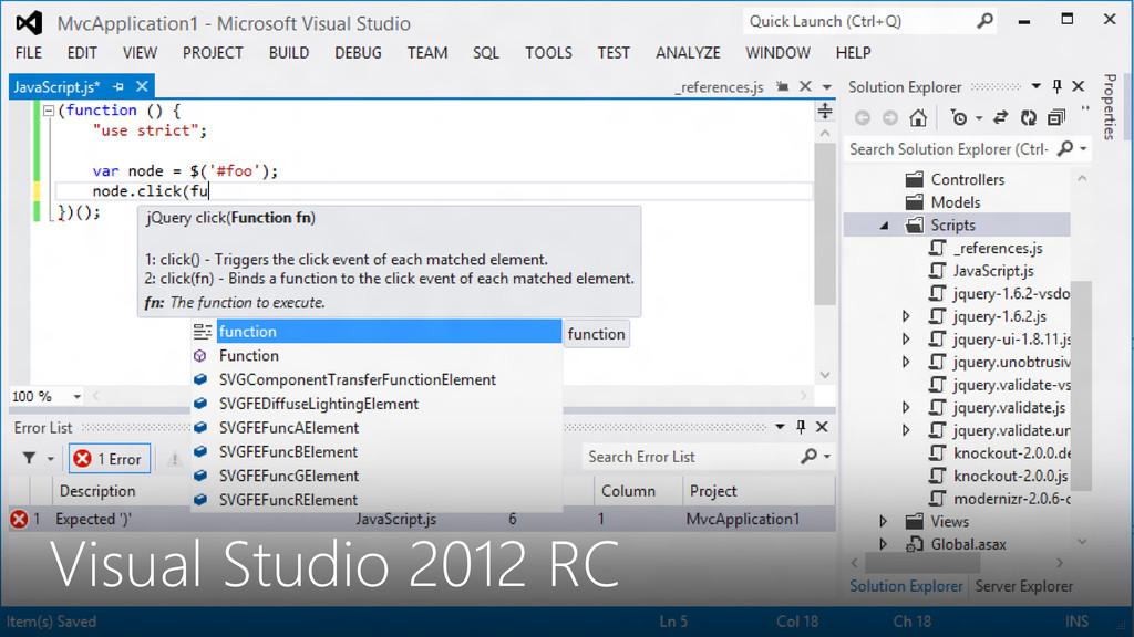 Visual Studio 2012 RC