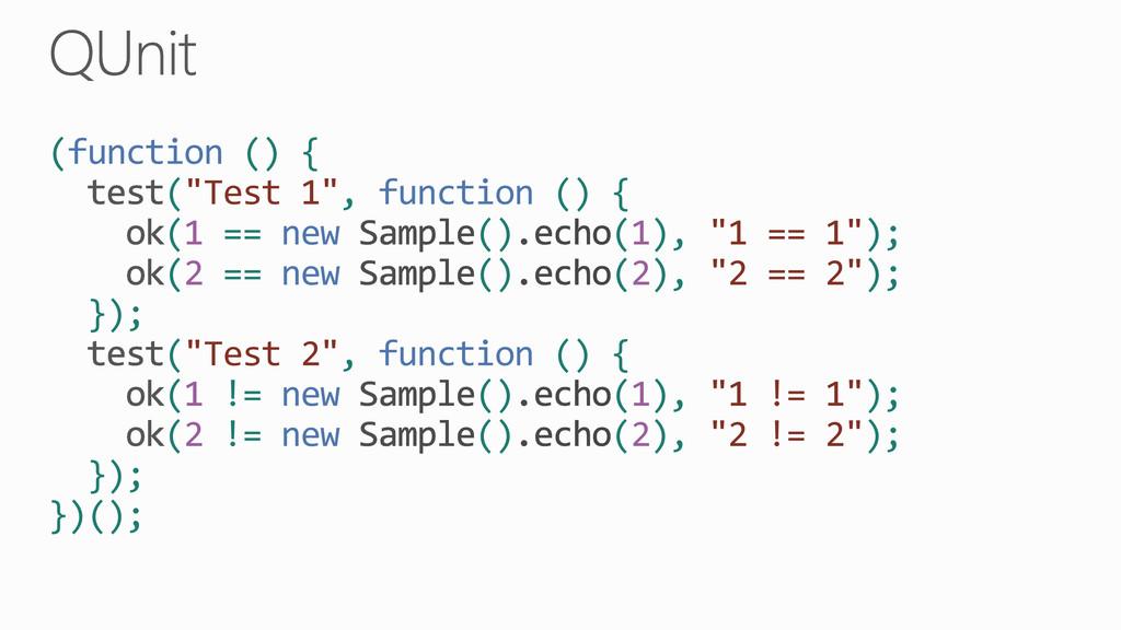 """(function () { (""""Test 1"""", function () { (1 == n..."""