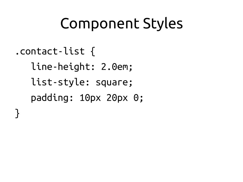 Component Styles	