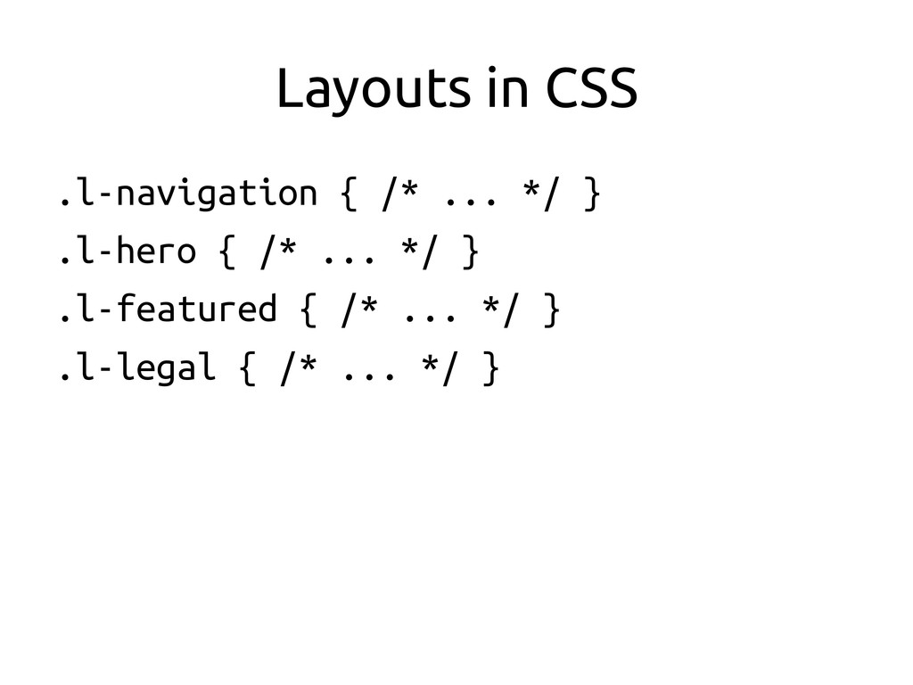 Layouts in CSS	