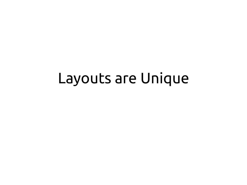 Layouts are Unique