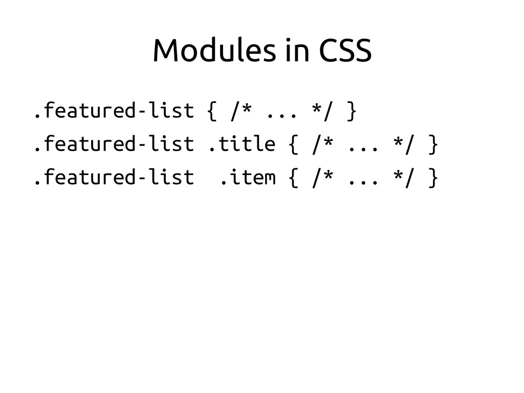 Modules in CSS	